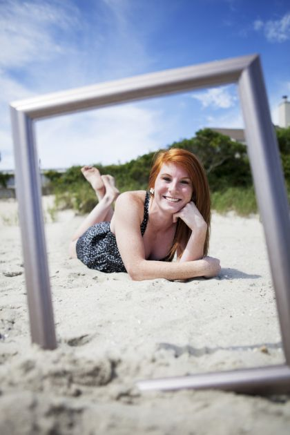 frame pictures on the beach