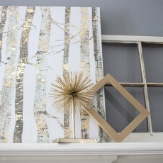Gold Accents Mantel