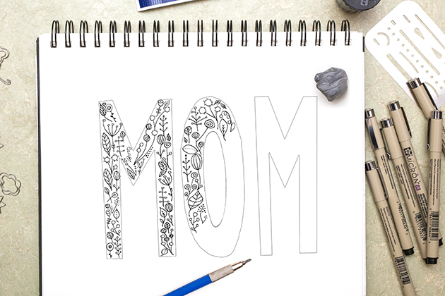 Mother's Day Hand Lettering Tutorial