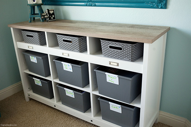 Sauder storage credenza capturing joy with kristen duke - Pieces of furniture that can keep your home office organized ...
