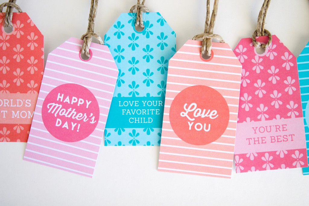 Colorful Mother's Day Gift Tags