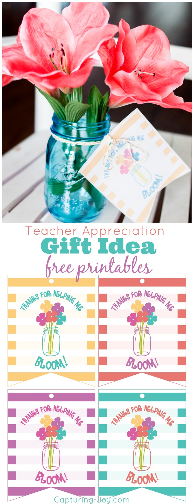 Teacher Appreciation Gift Idea Free Printables
