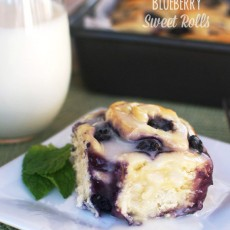 Blueberry Sweet Rolls - The perfect breakfast for a spring morning.