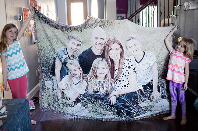 photo blanket gift idea from Shutterfly