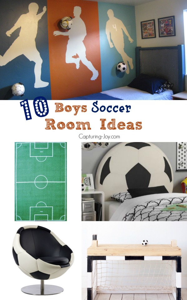 Beau 10 Boys Soccer Room Ideas! From Paint Ideas To Decor To Cute Soccer Themed  Furniture