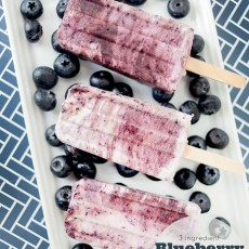 3 ingredient Blueberry Protein Pops, great frozen summer treat recipe