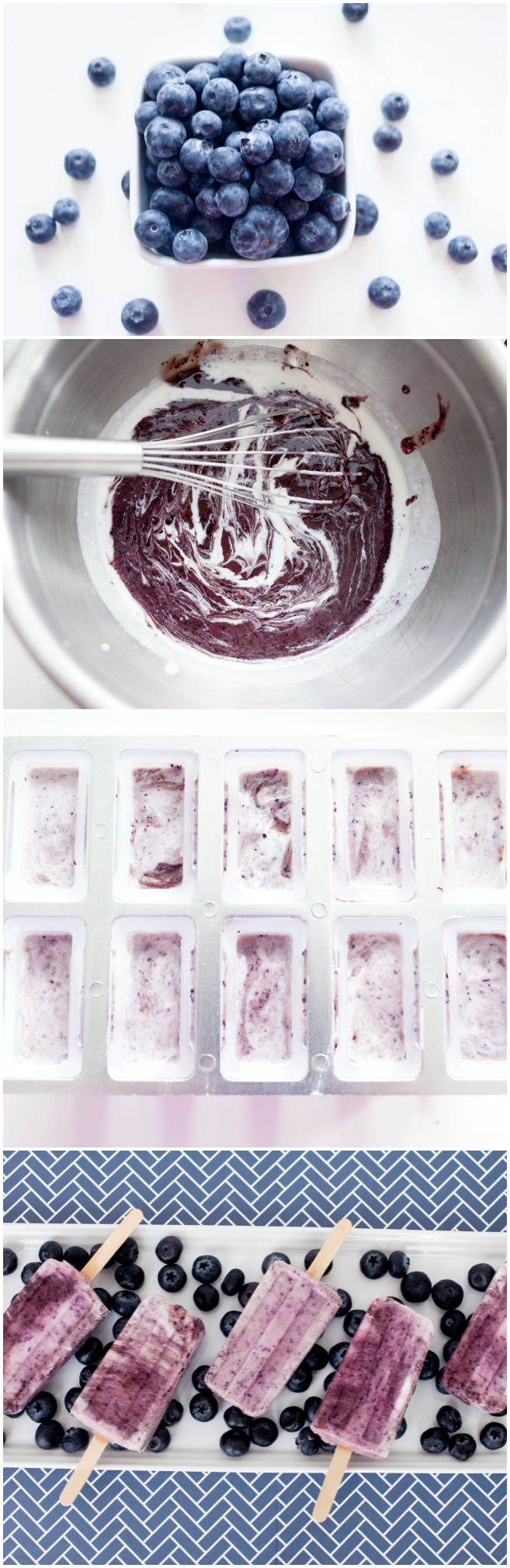 3 ingredient blueberry coconut protein popsicles