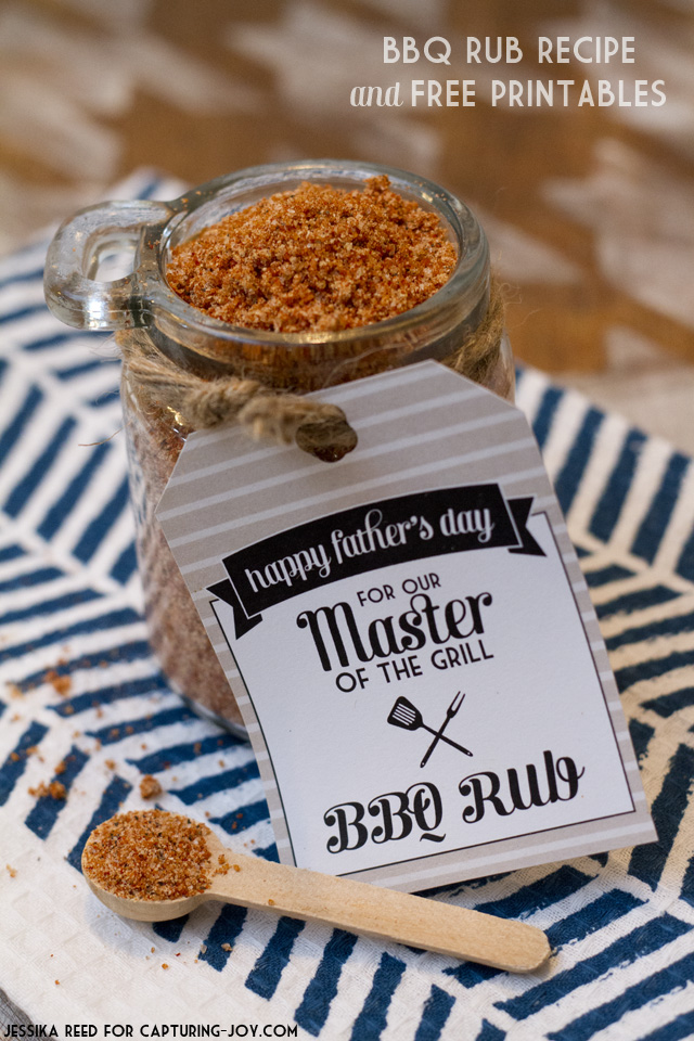 BBQ Rub Recipe with printable gift tag