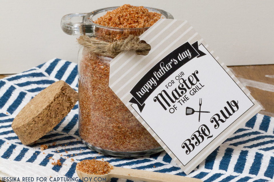 BBQ Rub Gift with Printable BBQ Gift Tag