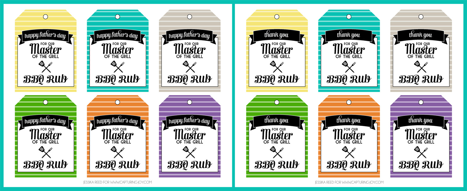 Dry Rub Printable Gift Tags