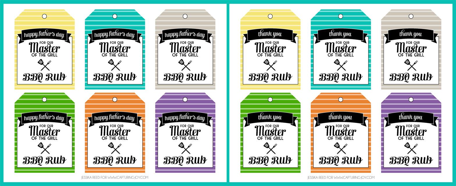 BBQ Rub Recipe and Free Printables - Capturing Joy with