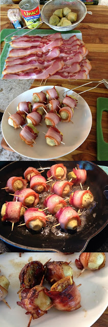 Bacon Wrapped Artichoke Hearts