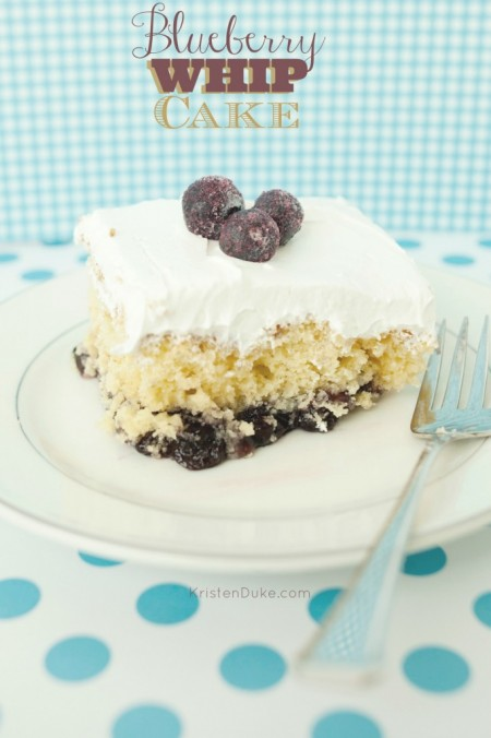15 Summer Treat Recipes: Blueberry Whip Cake