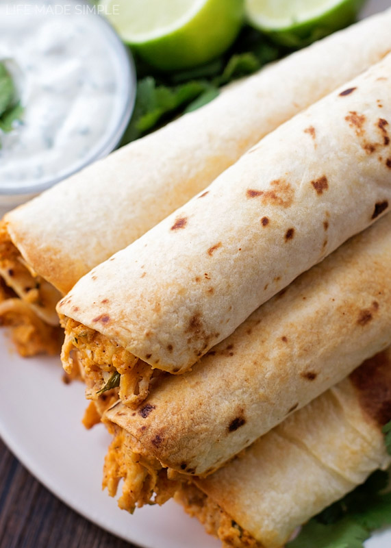 Creamy Chicken Taquitos, great family dinner recipe the kids will love!