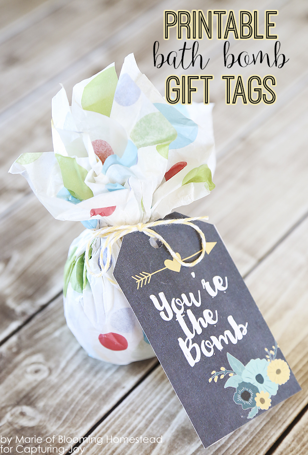 Printable You are the Bomb Gift Tags by Blooming Homestead