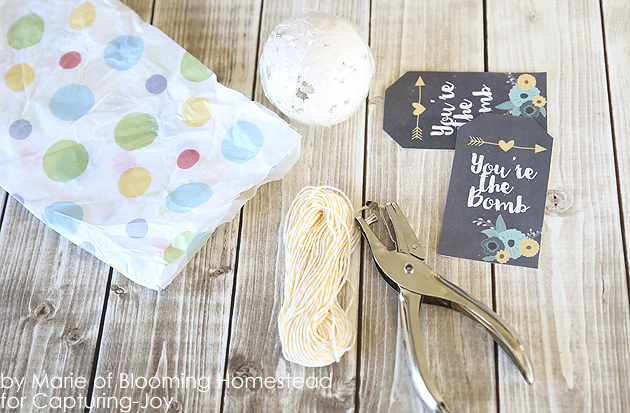Bath Bomb Gift Wrap and Bath Bomb Gift Tag