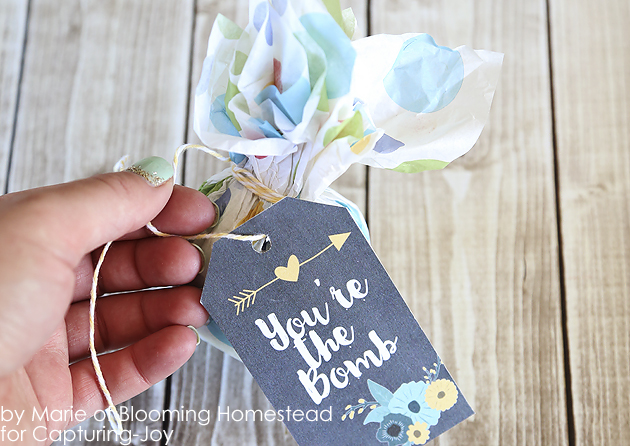 Bath Bomb Wrapping and Bath Bomb Gift Tag
