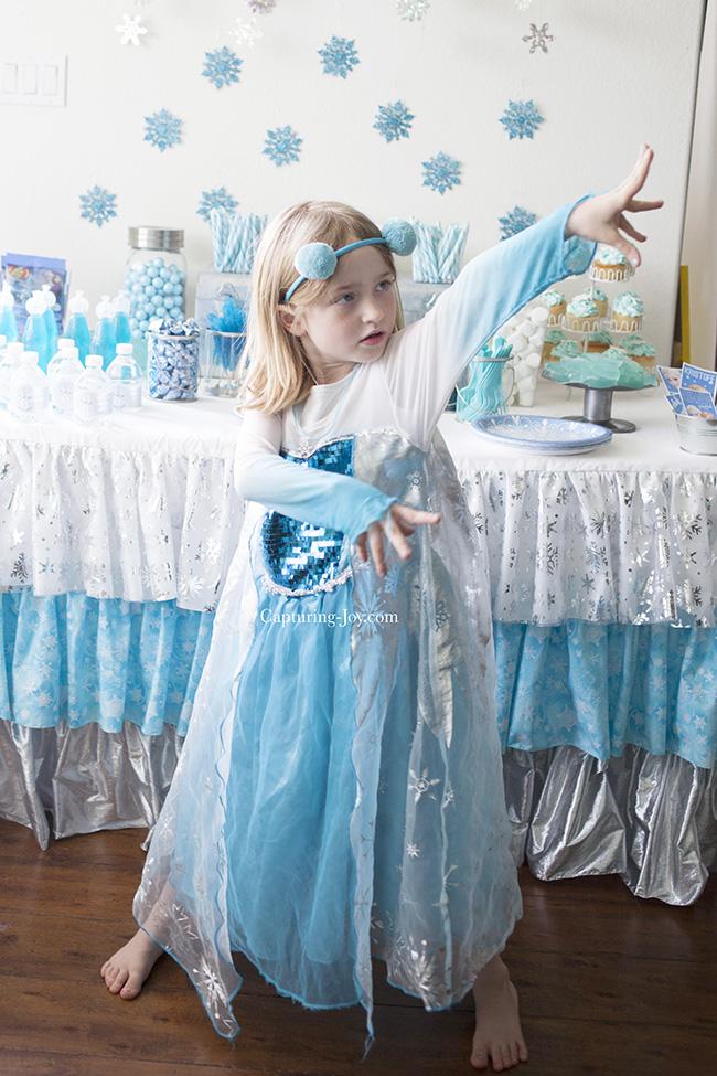 Disney Frozen Elsa Costume at Party