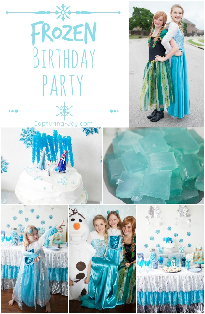 Frozen Birthday Party Games, recipes, and Ideas