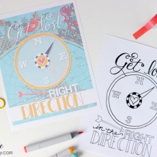 Get Lost in the Right Direction Free Coloring Page + Print | capturing-joy.com