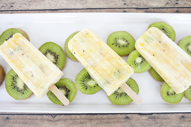 Healthy Citrus Mango Kiwi Pops