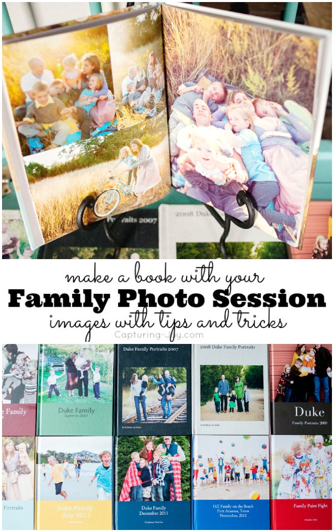 Tips to Make a book with your Family Photo Session images and Blurb Books