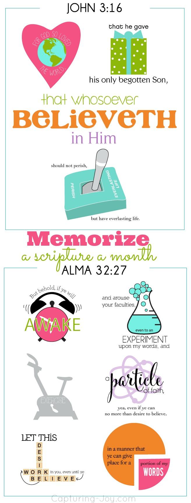 Memorize a scripture a month