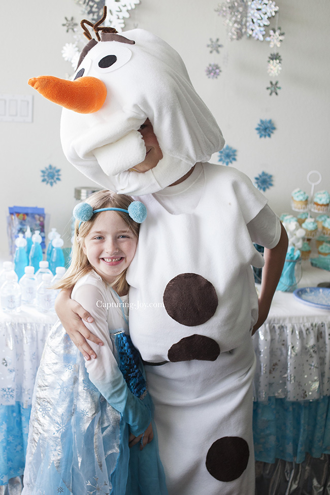 Olaf and Elsa at Frozen Party