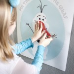 Pin the nose on Olaf free print