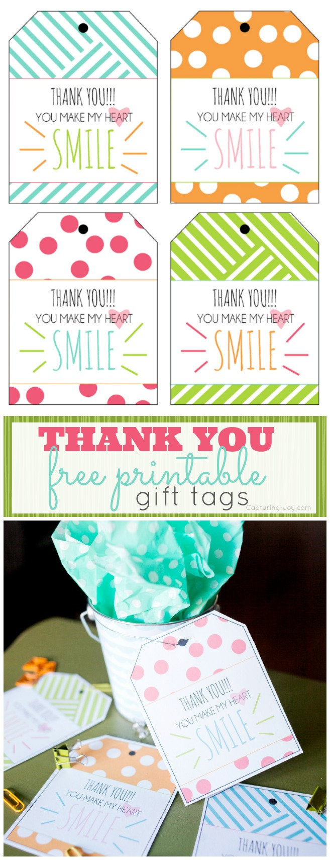 It's just an image of Transformative Thank You Tags Printable