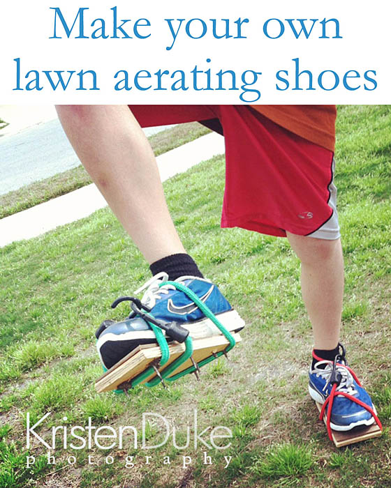 15 Summer Activities for Kids: DIY Lawn Aerating Shoes