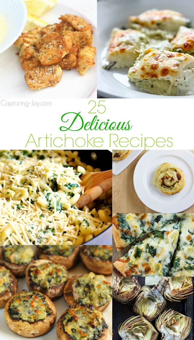 25 Delicious Artichoke Recipes!  From how to cook an artichoke to bruschetta to lasagna!