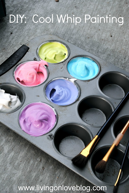 15 Summer Activities for Kids: Cool Whip Painting