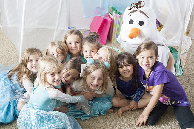 friends at frozen party