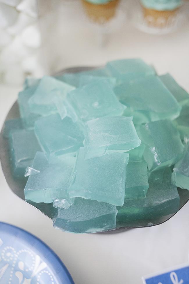 frozen jello ice block treats