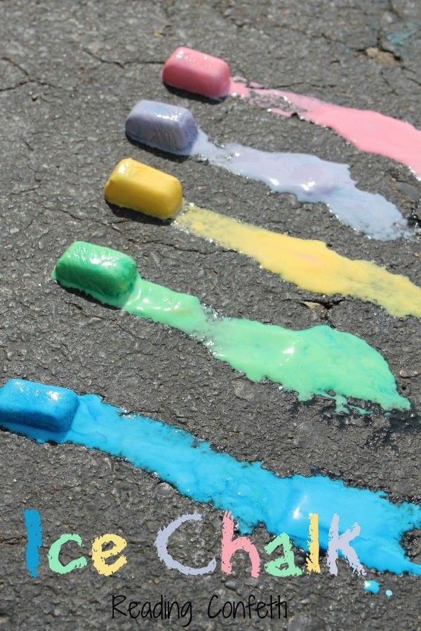 15 Summer Activities for Kids: DIY Ice Chalk