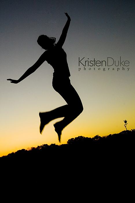senior silhouette picture jumping