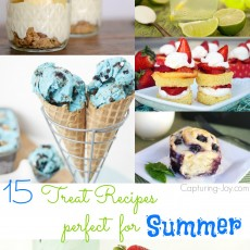 15 Treat Recipes perfect for summer! From ice cream, to beverages!