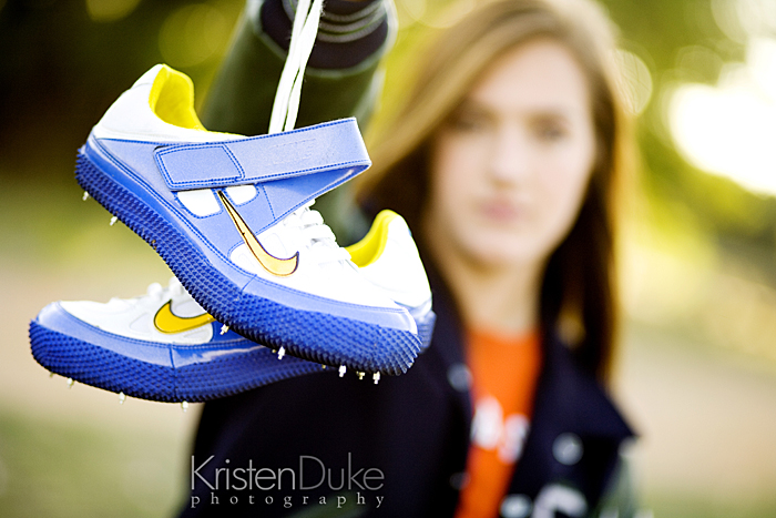track shoes in senior pictures