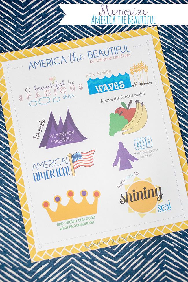 It is an image of Wild America the Beautiful Lyrics Printable