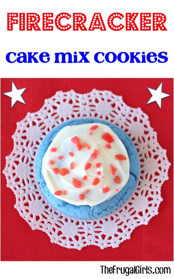 firecracker cake mix cookie recipe-great for the 4th of july!
