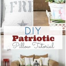 DIY Patriotic Pillow Tutorial