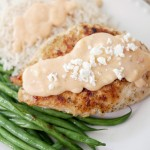Grilled Chicken with Feta Cheese Sauce