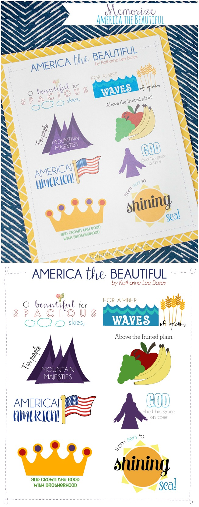 July 4th song America the Beautiful memorize a patriotic song