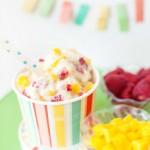 Mango Raspberry Ice Cream