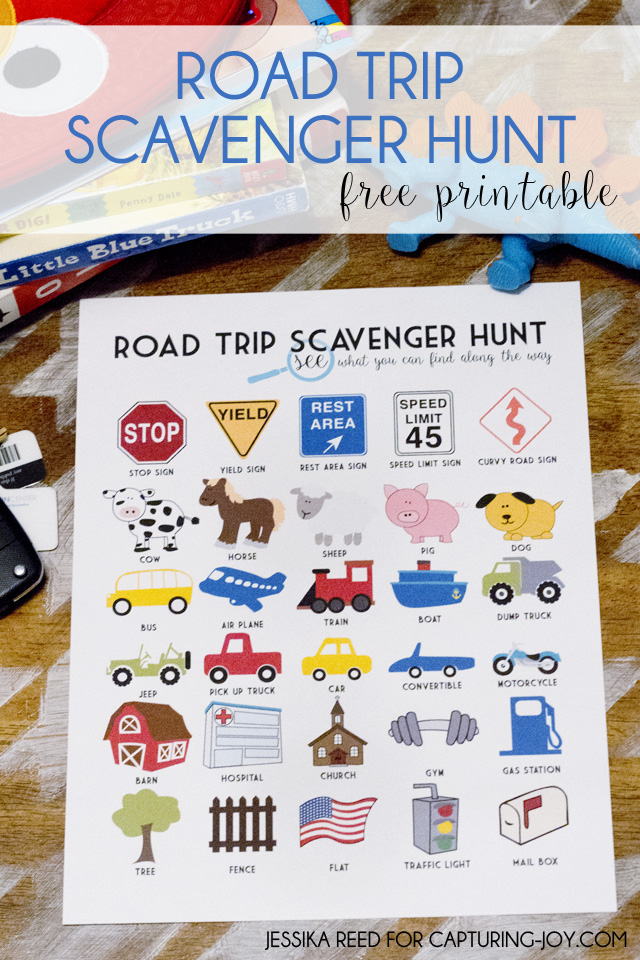 photograph regarding Road Trip Scavenger Hunt Printable named Highway Family vacation Scavenger Hunt No cost Printable - Taking pictures Contentment with