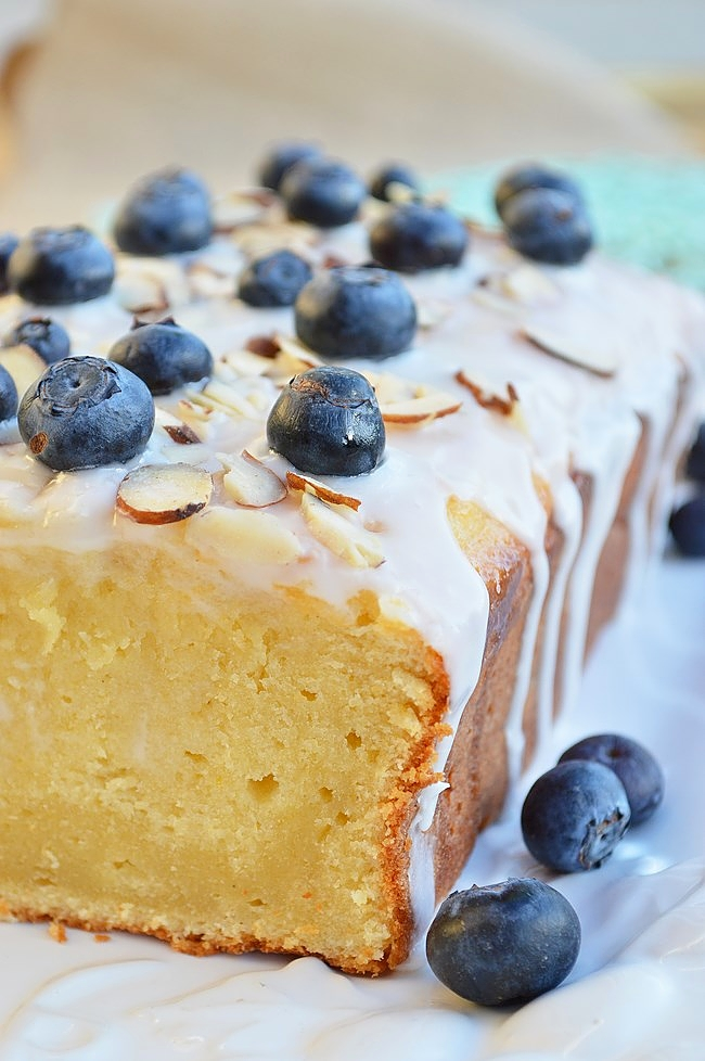 Gluten Free Lemon Pound Cake with Vanilla Glaze