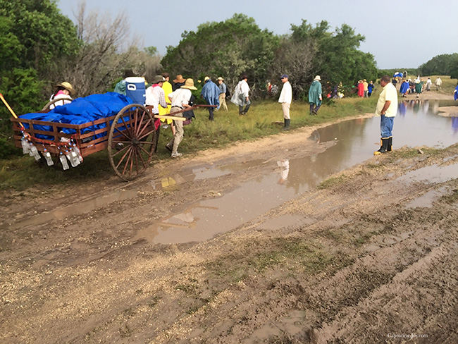 mud on the pioneer handcart trail