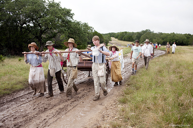 mud on the pioneer trail