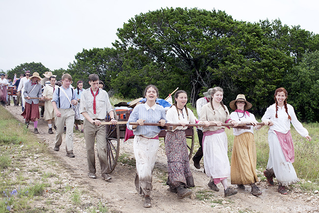 pushing handcart to the end